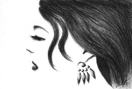 February 17, 2009 sketch, 6″ x 4″, charcoal