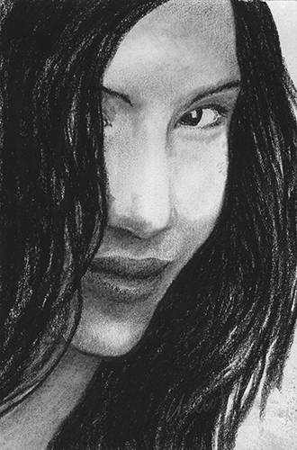 """June 5, 2011 sketch - charcoal on drawing paper, 4"""" x 6"""""""