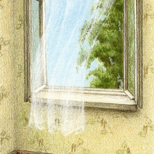 I want to talk to you… book cover illustration) – colored pencil on drawing paper, 5.75″ x 8″
