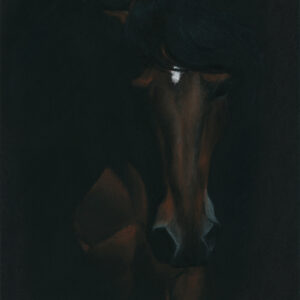 """Out of the Dark - oil pastel on colored paper, 9"""" x 12"""""""
