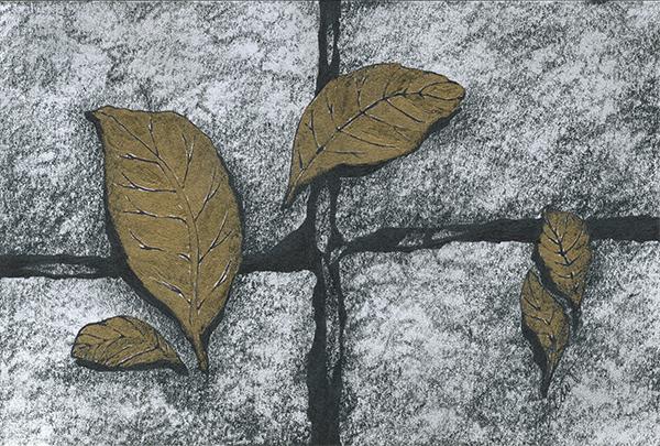 "September 15, 2013 sketch - graphite & acrylic, 6"" x 4"""
