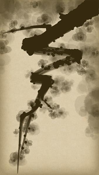 Yelena Shabrova ~ A sketch a day: blossoms ~ digital art, Zen Brush app