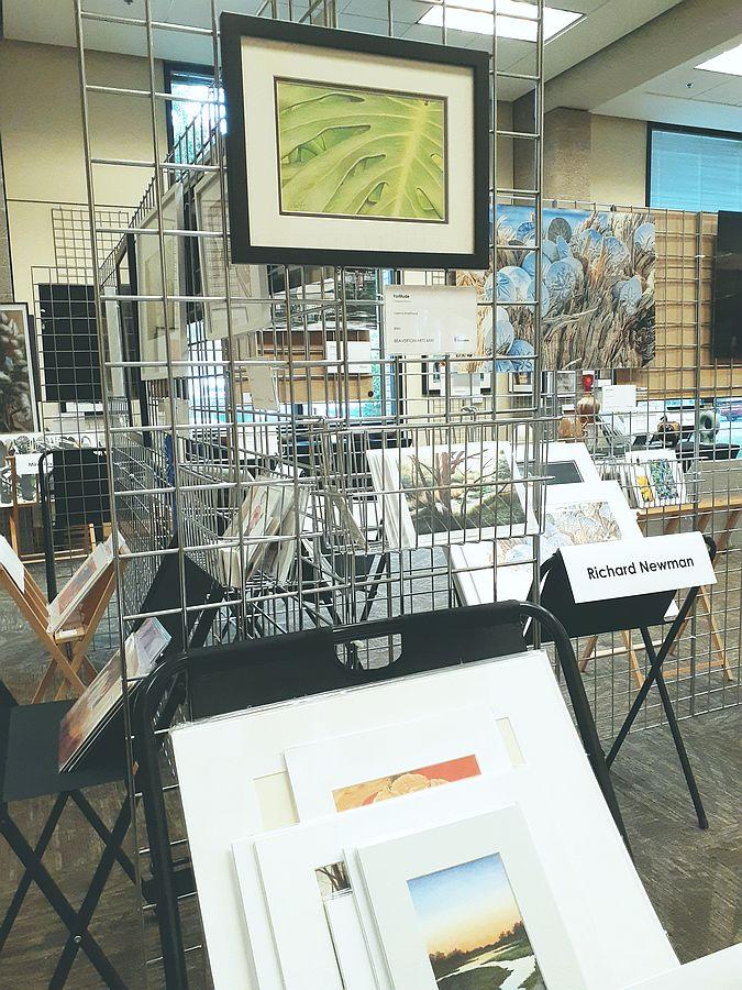 Photo of my display at the Beaverton Arts Mix! show